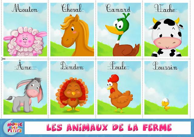 Resultado de imagen para animaux de la ferme