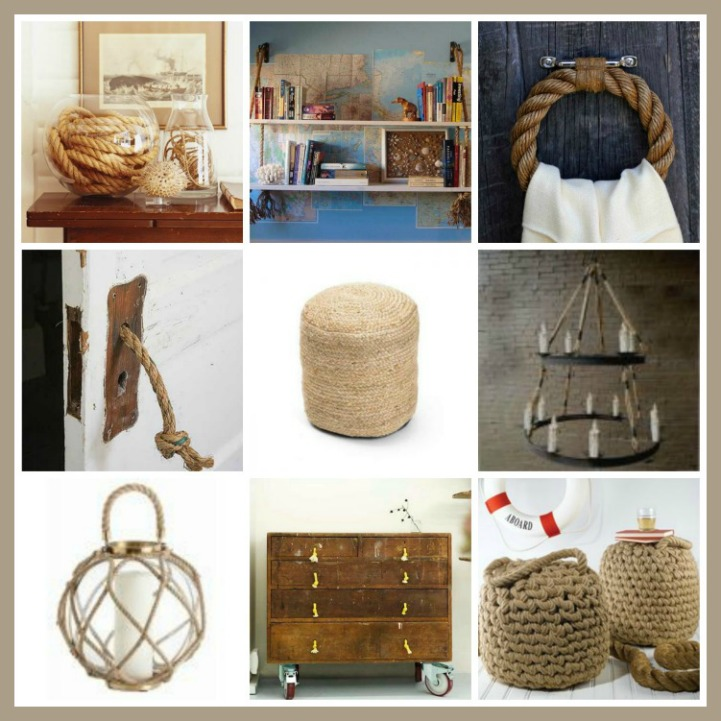 Round up decorating with rope