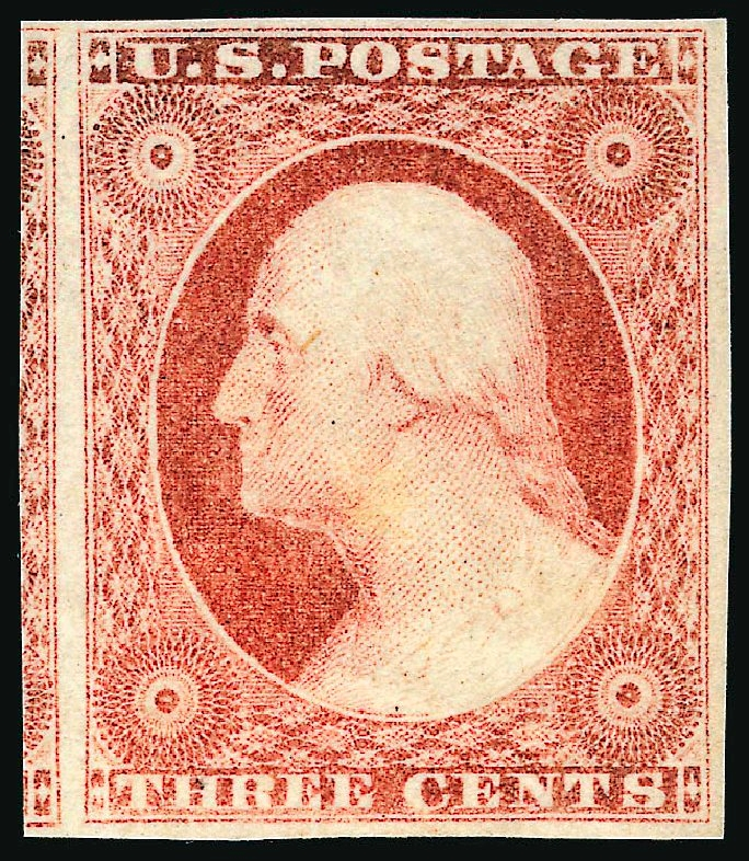 Codex Philately The 3 Cents Washington Le 3 Cents Washington Orange Rouge 1851
