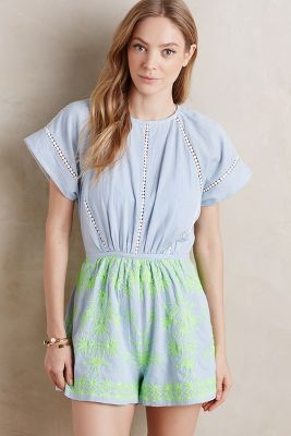 bohemian romper from Anthropologie