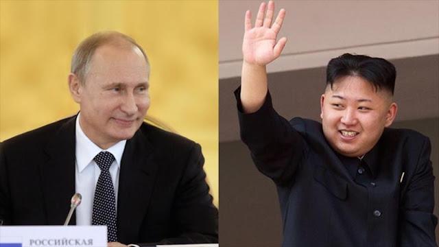 Líder norcoreano expresa a Putin su voluntad para reforzar lazos