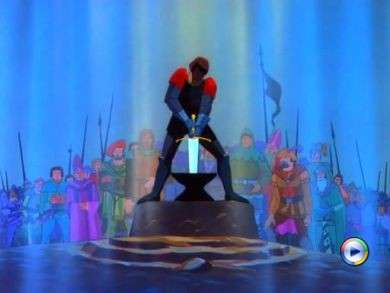 Unable to pull out the sword Sword in the Stone animatedfilmreviews.filminspector.com