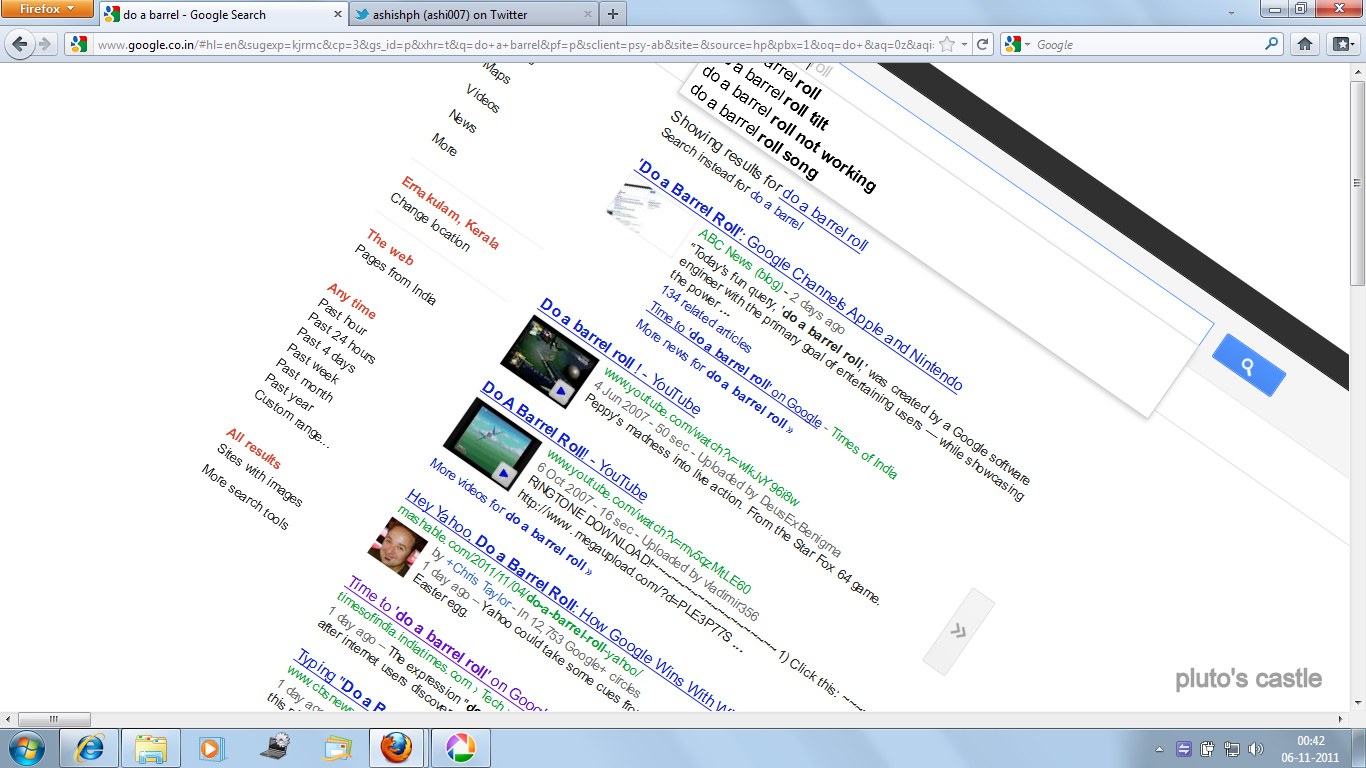 Do A Barrel Roll Google Tricks Google Quotdo A Barrel Rol Quot Tricks Friends Blog