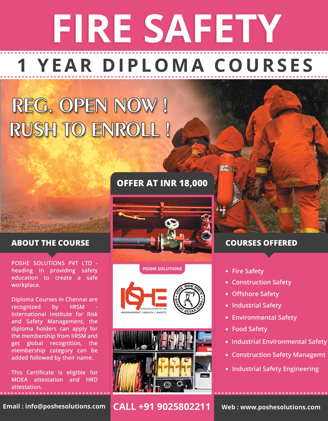 Globally Recognized International Safety Training Course Provider POSHE Offer Courses