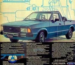 Propaganda do Ford Pampa em 1984: objetivo para concorrer com o Fiat Fiorino.
