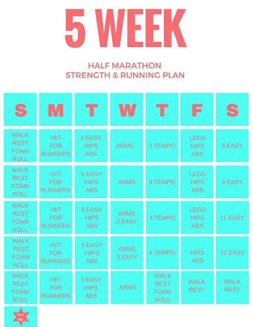6 week half marathon training schedule pdf