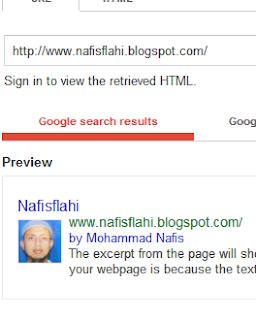 Profile picture in Google search result