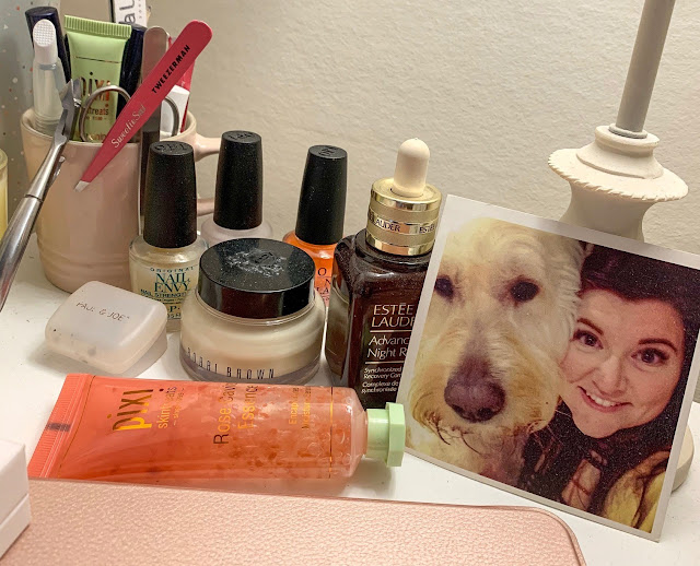 Bedside Table Beauty Products