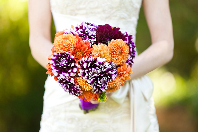 In Love With All Things Purple But When You Bring Into The Mix Hues Of Orangethe Result Is Pure Colorful Wedding Magic