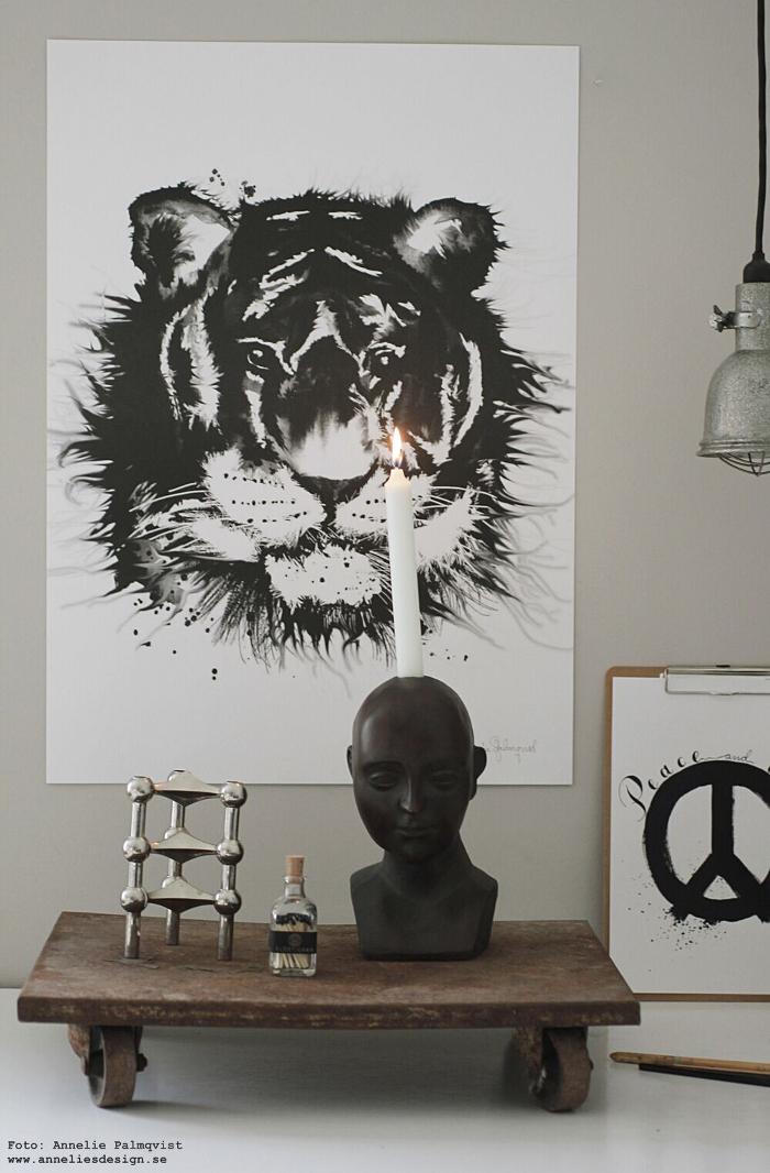 annelies design, webbutik, ansikte ljusstake, nagel ljusstake, ljusstakar, inredning, webshop, nätbutik, ateljé, eldstickan, tändstickor, kaktus, kaktusar, svart och vitt, svartvit, svartvita,