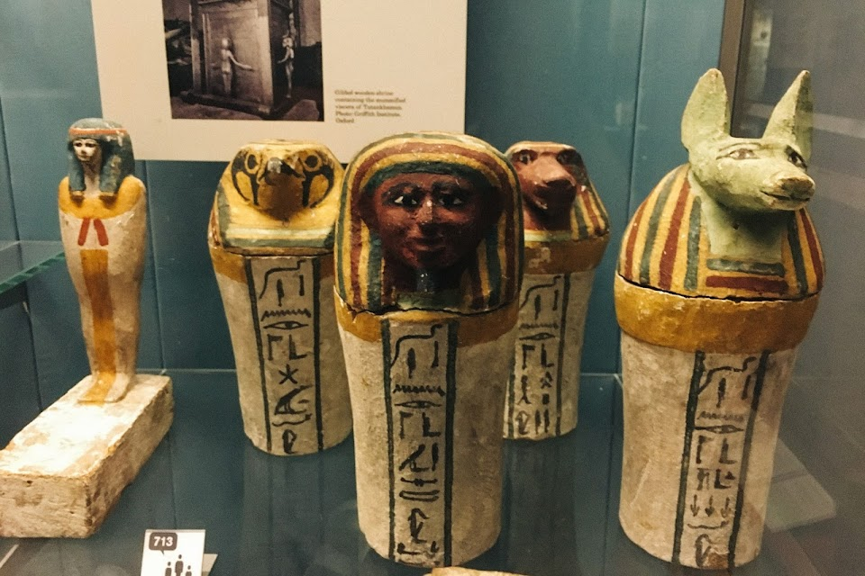 カノプス壺(Four painted wooden dummy Canopic jars)