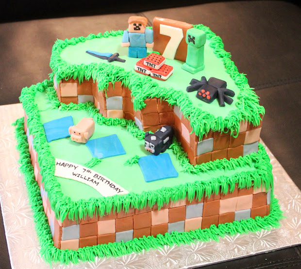 Minecraft Birthday Cake Ideas 7 Year Old Boy