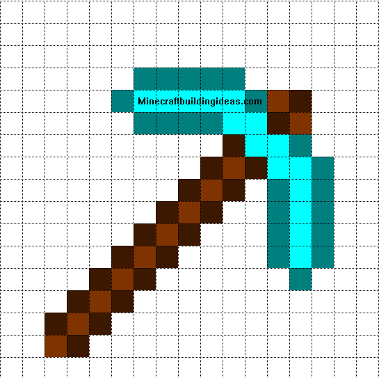 Minecraft pixel art templates diamond pickaxe for How to make minecraft pixel art templates