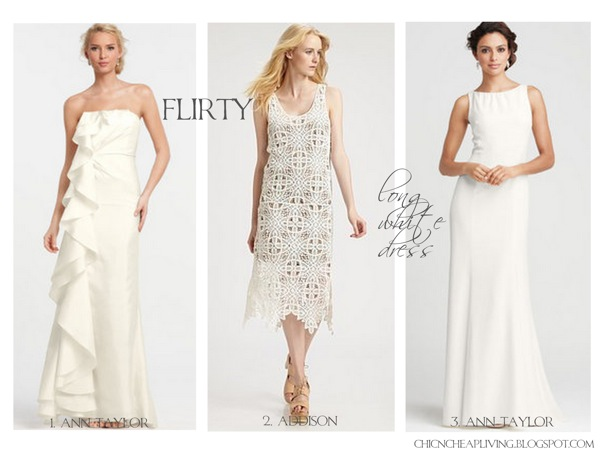 Ann Taylor Wedding Gowns: Long White Dresses 2012: Alternative Wedding And White