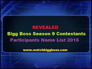 Big Boss Season 9 Contestants