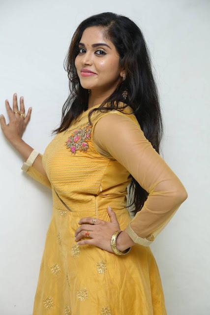 Karunya Chowdary Stills At Seetha Ramuni Kosam Movie Interview