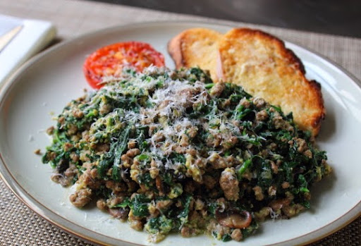 Paleo Joe's Special Beef and Spinach Scramble