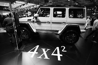 Mercedes Benz V8 4X4 at Qatar Motor Show 2017