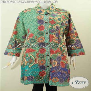 model blus batik modern lengan panjang