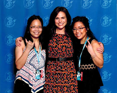 Meeting Lana Parrilla at Comicon Andrea Tiffany aglimpseofglam