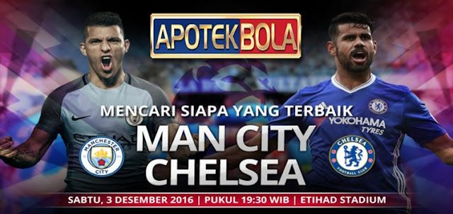Prediksi Pertandingan Manchester City vs Chelsea 3 Desember 2016