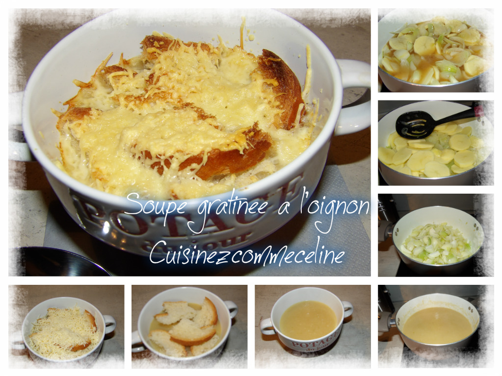 Cuisinezcommec line soupe l 39 oignon gratin e - Soupe a l oignon gratinee ...