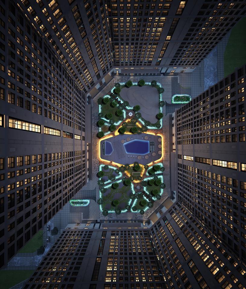 Phối cảnh về đêm chung cư Emerald Center Park