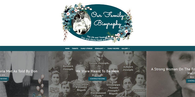 Our Family Biography Website Design by Julianne of Bratiful Creative Solutions