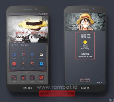 Tema Xiaomi Tembus Aplikasi DarkLuffy Theme MIUI 8