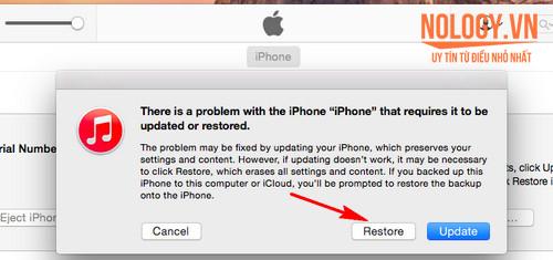 Khắc phục lỗi iphone 5s không hiển thị màn hình