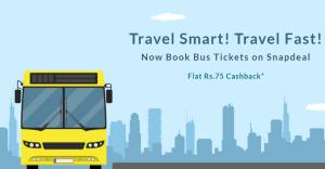 Snapdeal Bus Ticket Cashback Offer
