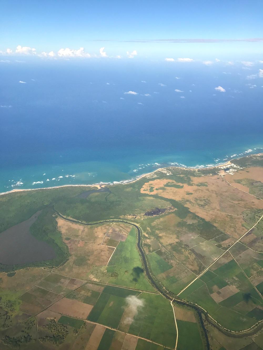 Breathless Resort from Airplane