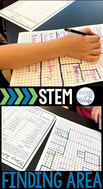 STEM Math Challenge FREEBIE! Students design their Home Sweet Home using grid paper and a set of rules. They must have 15 rooms and calculate the area of each as they draw. In the end, they calculate the total cost of the home! Using the total square units they use a predetermined number to find the home's cost. The forms are editable! This FREE resource helps students practice finding area, addition, multiplication, and more!