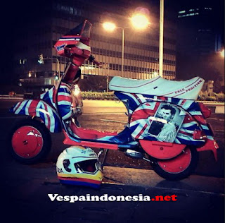 Foto Modifikasi Vespa Excel Racing