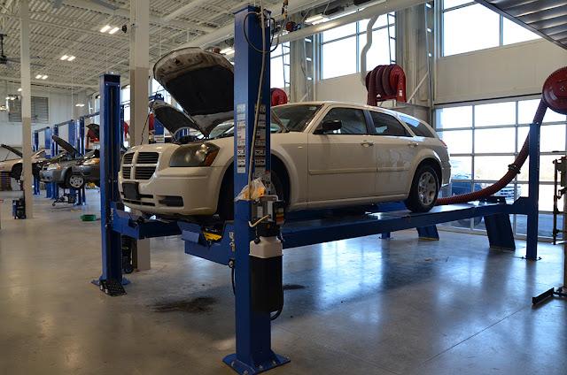 car on alignment machine