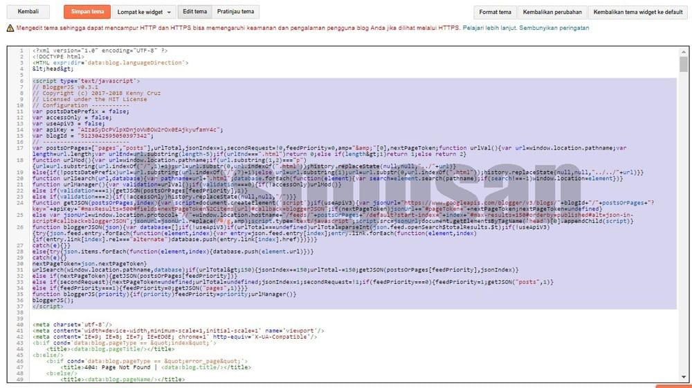 kode mengubah permalink blogspot