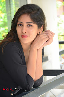 Actress Chandini Chowdary Pictures in Black Jeans at Interview  0130.JPG