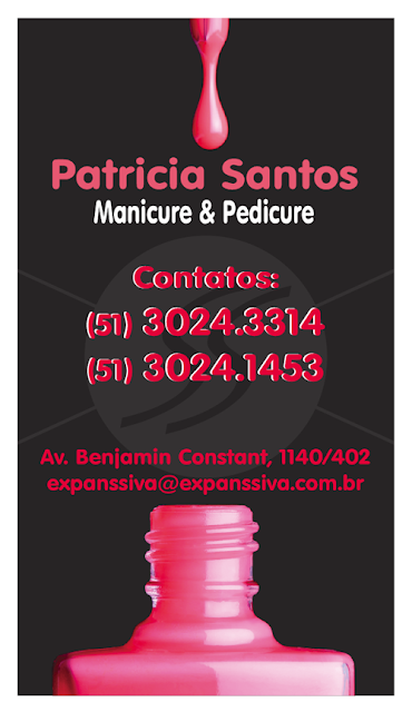 cartao de visita manicure sao paulo - Cartões de Visita para Manicure e Pedicure