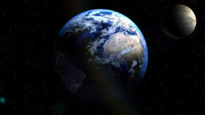 Bulan berevolusi terhadap bumi