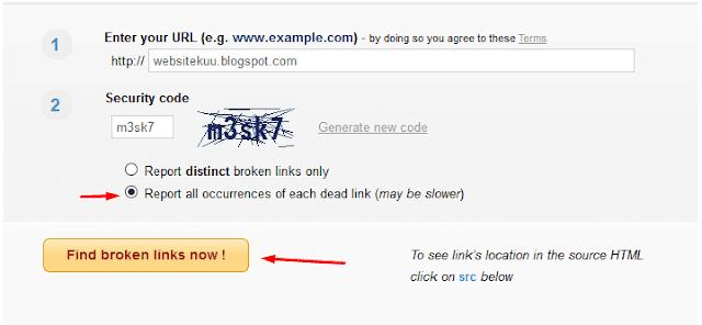 cara mencari broken link ( link mati ) pada blog