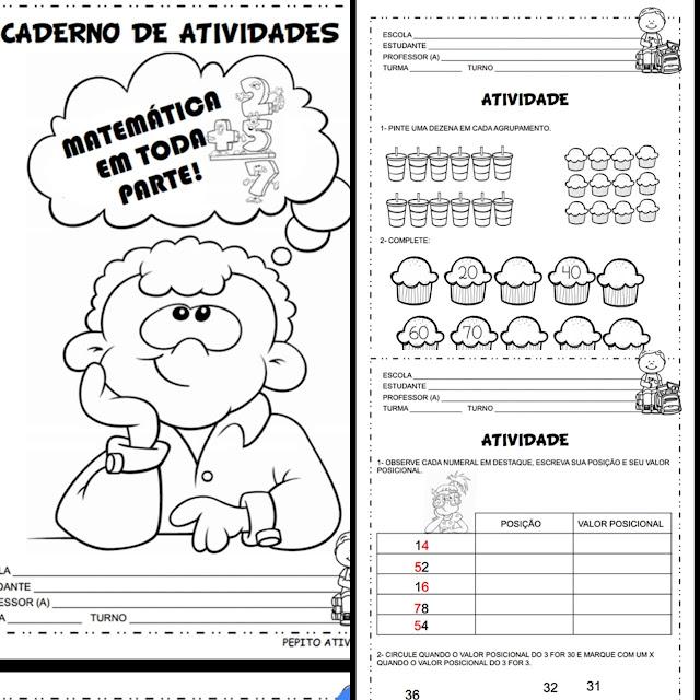Caderno de atividades Matemática em Toda Parte.
