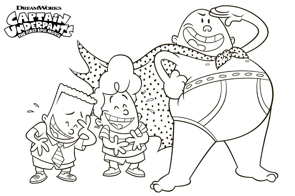Captain Underpants coloring pages on Coloring-Book.info | 800x1200