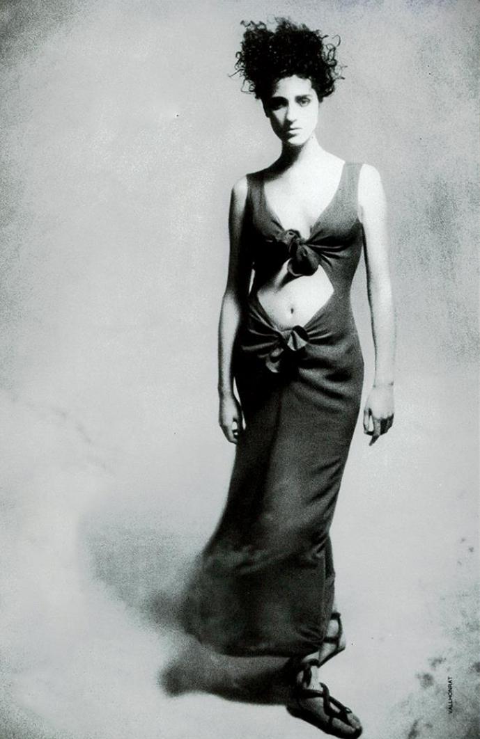 Yves Saint Laurent in Vogue Italia February 1987 via www.fashionedbylove.co.uk