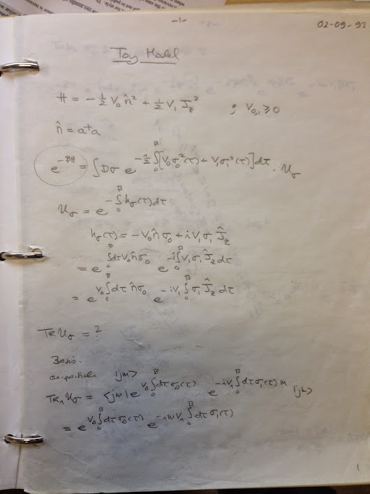 Nifty papers I wrote that nobody knows about (Part 4: Complex Langevin equation)