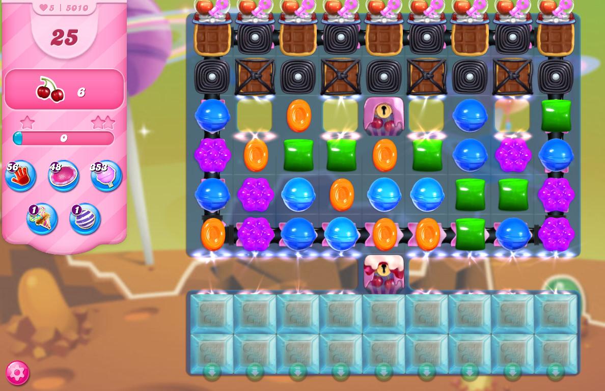 Candy Crush Saga level 5010