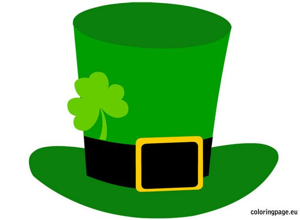 leprechaun hat template printable - st patrick s day clip art crafts printables coloring
