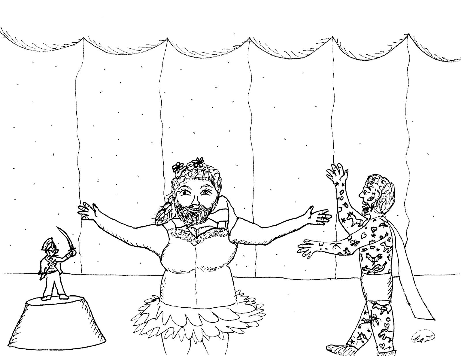 Robin's Great Coloring Pages: The Greatest Showman circus