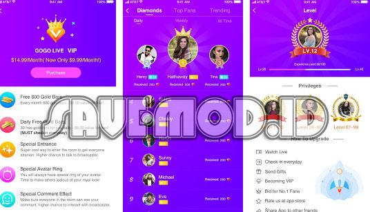 Gogo Live 2.8.0 MOD APK Free Coin & VIP Terbaru 2019