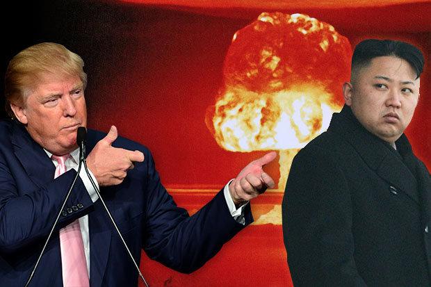 """Donald Trump disse que """"todas as opções estão sobre a mesa"""", em resposta à Coreia do Norte e seu teste com míssil balístico que passou sobre o Japão."""