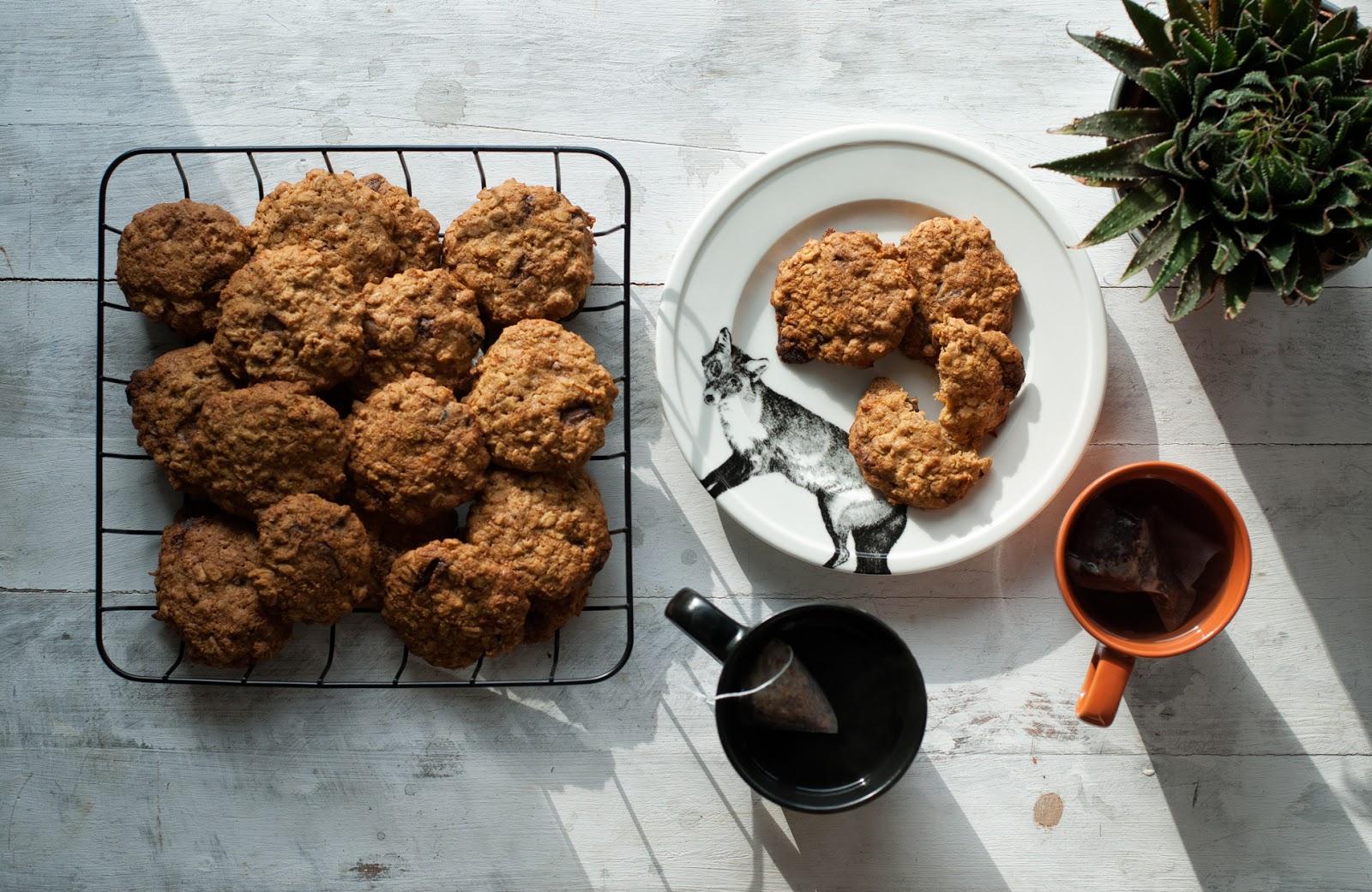 Proste ciasteczka owsiane marchewkowe